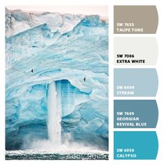 warm blues calm true ice icy iceberg icicle arctic frost frosty frosted white taupe single color baby boy room bedroom nursery kids clothing fashion inspiration stream water lake pond waterfall pool lagoon bay cove spray splash ocean sea natural nature calypso baby shower boys birthday party #palette #Paint colors from #ColorSnap by #Sherwin-Williams