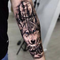 Portrait Tattoo Sleeve, Tiger Tattoo Sleeve, Lion Tattoo Sleeves, Nature Tattoo Sleeve, Wolf Tattoo Forearm, Forearm Sleeve Tattoos, Tattoo Sleeve Designs, Rib Tattoos For Guys, Wolf Tattoos Men