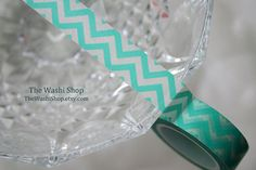 Love Washi Tape! Just heard of this stuff & now I see it everywhere.  CHEVRONS ARE MY TRENDY OBSSESSION!    Turquoise Chevron Washi Tape by TheWashiShop on Etsy, $2.25