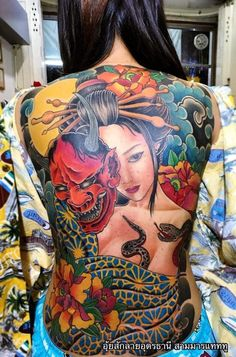 Mens Body Tattoos, Sexy Tattoos For Women, Beautiful Tattoos For Women, Dope Tattoos, Badass Tattoos, Body Art Tattoos, Japanese Geisha Tattoo, Japanese Back Tattoo, Japanese Tattoo Women