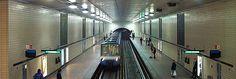 Station St-Laurent, ligne 1 verte (Source et informations supplémentaires : http://www.metrodemontreal.com/green/placedesarts/index-f.html)