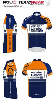 DESIGN YOUR OWN cycling jersey by AGU // Customized Cycling Apparel, designed for Van der Linde, Texel (Netherlands). Cycling Outfits, Cycling Wear, Team Wear, Sport Wear, Sport Casual, Triathlon, Design Your Own, Posters, Bike