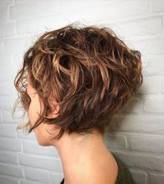 20 Perfect Looks For Short Curly Hair Concave Bob Hairstyles, Bob Hairstyles For Fine Hair, Office Hairstyles, Anime Hairstyles, Stylish Hairstyles, Hairstyles Videos, School Hairstyles, Thick Curly Haircuts, Easy Hairstyles