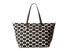 Kate Spade New York Bow Tile Francis Baby Bag Black/ostrich egg - Zappos Couture