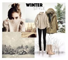 """Day Look 197 Winter December Girl Cozy And Warm Fashion Outfit"" by fashion-by-katrine on Polyvore featuring Home Decorators Collection, WALL, Pottery Barn, Yves Saint Laurent and Gianvito Rossi"