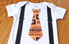 Oklahoma State Cowboys boys Suspenders and Tie by TennesseeTots, $19.99
