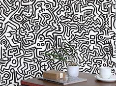 Papier peint autocollant noir blanc