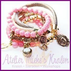 Zelf armbanden maken in stylish pink