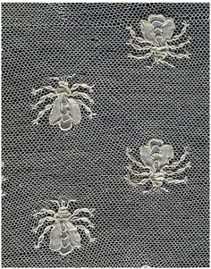 Bees captured in lace.