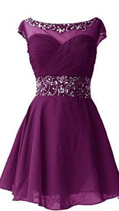 #purple #chiffon #short #shortpromdress #homecomingdress #cocktaildresses…