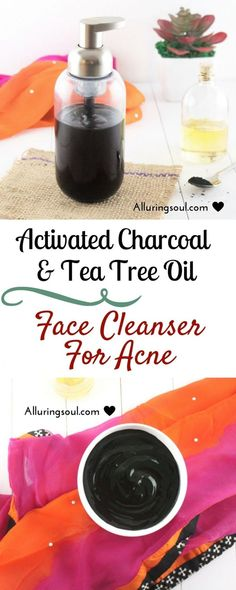The best DIY projects & DIY ideas and tutorials: sewing, paper craft, DIY. Natural & DIY Skin Care : Activated Charcoal & Tea Tree Oil Face Cleanser exfoliates the dead skin cell and provide proper nutrients to the skin. Huile Tea Tree, How To Get Rid Of Acne, Facial Care, Belleza Natural, Beauty Care, Diy Beauty, Beauty Tips, Beauty Ideas, Beauty Hacks