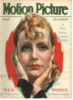 MOTION PICTURE GRETA GARBO ON COVER MAY 1930