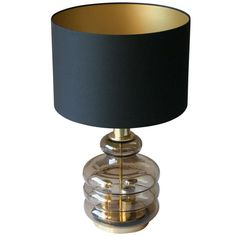 Glass Table Lamp | From a unique collection of antique and modern table lamps at http://www.1stdibs.com/furniture/lighting/table-lamps/