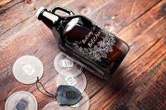 Custom engraved & personalised 64oz beer by SigilandGrowler