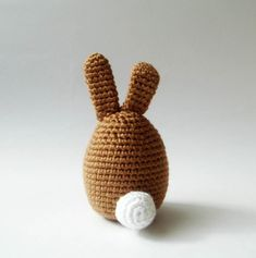 Crocheted Easter rabbit -  $25.00 by sabahnur on Etsy.    *Crocheted in acrylic yarn  *stuffed with fiberfill  *has 6mm safety eyes.