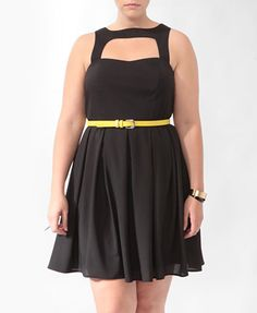 Pleated Cutout Dress