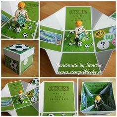 Fußball Explosionsbox - Stempelklecks - Stempeln, Stanzen und Basteln mit Stampin' Up! -