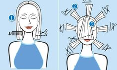 Laila Zaid - Passo a PassoEstilo Chanel médio e desfiado. Base Corte reto, quatro dedos abaixo do queixo (1). Repicado Eleve as mechas ao re...