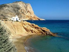 Small chapel by the sea in Anafi island, Greece