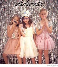 Tutu du Monde Dresses would be perfect for the Decadent Darling and Queen of Donuts. Tea Party Birthday, Xmas Party, 8th Birthday, Birthday Ideas, Ballerina Birthday, Princess Birthday, Princess Party Games, Sparkle Party, Tutu Party