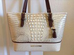 Brahmin Medium Asher Tote Fossil Tri Texture Croco Melbourne Leather $295 00 | eBay