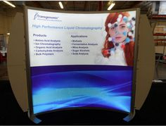 SEGUE Backlit SuperNova Display with Curved Plex Wings. http://www.indydisplays.com/16-trade-show-booth-rentals