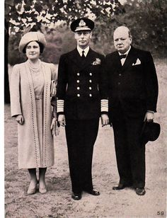 H.M. KING GEORGE VI., H.M, QUEEN ELIZABETH and PRIME MINISTER WINSTON S. CHURCHILL--OFFICIAL PHOTO --  We are pleased to offer this stunning Vintage (1942) 20 cm x 15 cm b/w Photographic plate from a series Published by The Australian War Memorial in 1942. | eBay