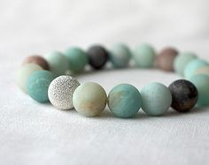Amazonite Bracelet by Stonesartisanjewelry