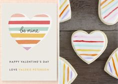 Design to Dish: Painted Heart Sugar Cookies by Lulu the Baker for Julep