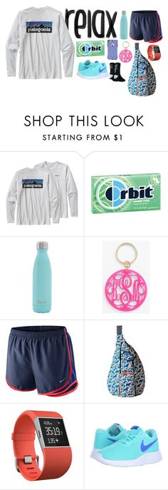 """now you know how i feel when you're always hanging out with your family"" by alexislynea-804 ❤ liked on Polyvore featuring Patagonia, OtterBox, S'well, Moon and Lola, NIKE, Kavu and Fitbit"