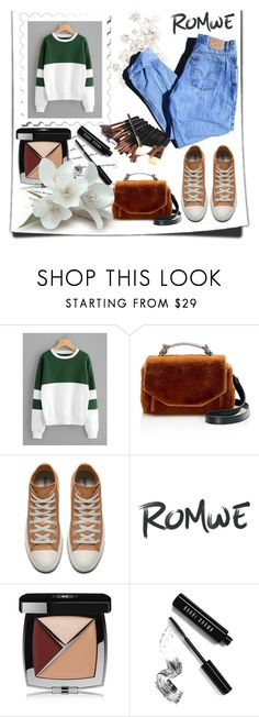 """""""Colorful"""" by lauren-sk123 ❤ liked on Polyvore featuring Maje, Katie, Chanel, Bobbi Brown Cosmetics and Levi's"""