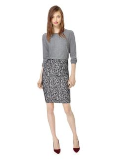WILFRED CAMPAGNE SKIRT - Curve-hugging perfection in innovative bonded lace