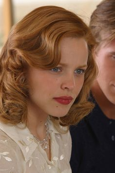 Awesome hair styles, and it's red, woo hoo! Rachel McAdams in 'The Notebook'