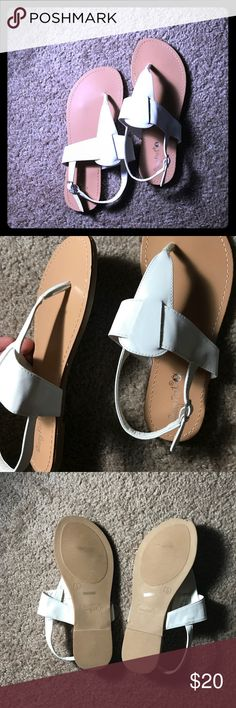 White sandals New! White sandals. Great for the spring and summer time. Please feel free to ask any questions. sunny feet Shoes Sandals
