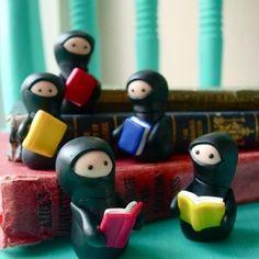 auch Ninjas lesen // cute little Ninjas reading