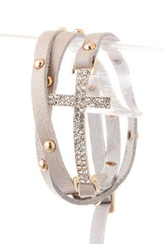 + Side Cross All Wrapped Up Bracelet