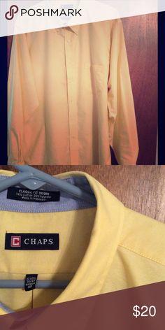 Ralph Lauren Chaps shirt Yellow wrinkle-free yellow Oxford shirt.  Button-down collar.  Perfect condition, hardly worn. Chaps Shirts Dress Shirts