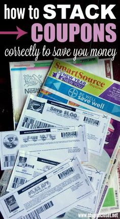 Learn How to Stack Coupons so you can save 50% or more.