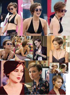 Jessica Stroup (Silver 90210) short hair cut