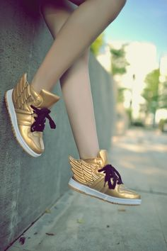 Yes yes yes. Gold, funky, hip hop, attention getting shoes that I can wear to special events for my yoga biz.