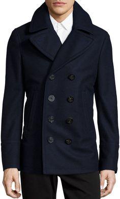 b614e1029a3 Burberry Brit Wool Cashmere Pea Coat
