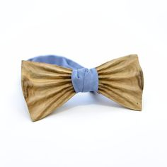 OKTIE wooden bow tie hand made classic gift for man Walnut Beige 3D Classic #OKTIE #BowTie