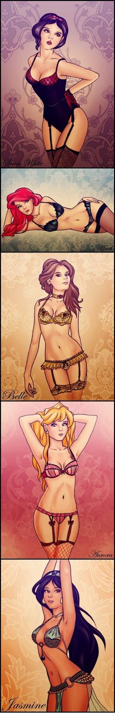 disney pin up art | Disney Princess pin-ups