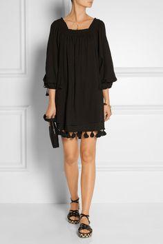 APIECE APART   Tewa tasseled cotton-gauze mini dress   NET-A-PORTER.COM