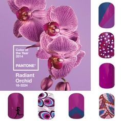 Pantone 2014 Color of the Year is Radiant Orchid! Jamberry Nails is so on trend!