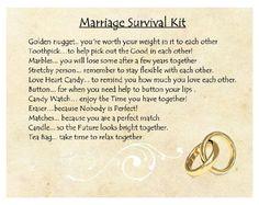 Marriage survival kit