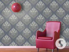 Fern Garden - for living room? temporary wallpaper