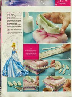 MIS REVISTAS PARA REPOSTERIA: LETICIA SUAREZ DEL CERRO ( ESPECIAL PRINCESAS) Princess Stories, Cinderella Party, Fondant Decorations, Fondant Figures, Pasta Flexible, Stuff And Thangs, Princesas Disney, Cold Porcelain, Cake Designs
