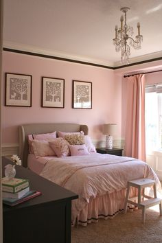 Paige's room is pink & brown like this, I love this