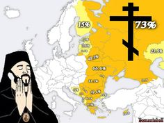 The Orthodox Church and the percetage of faithful in the eastern countries.